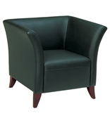 Officer Star Black Faux Leather Club Chair