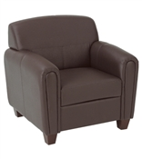 Office Star Pillar - Faux Leather Club Chair