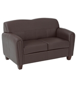 Office Pillar - Faux Leather Loveseat