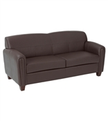 Office Star Pillar - Faux Leather Sofa