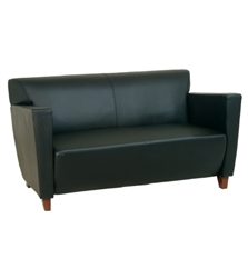 Office Star Leather Love Seat