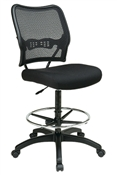 Deluxe Air Grid® Back Drafting Chair with Black Mesh Seat
