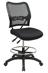 Deluxe Air Grid® Back Drafting Chair with Black Mesh Seat and Dual Function