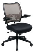 Deluxe Latte Air Grid® Back Chair with Black Mesh Seat