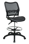 Deluxe Air Grid® Seat and Back Drafting Chair with Dual Function