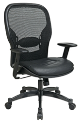 Professional Breathable Mesh Back Chair with Bonded Leather Seat