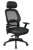 Breathable Mesh Back Managers Chair with Adjustable Headrest