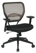 Professional Latte Air Grid® Back Managers Chair with Mesh Seat