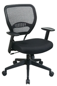 Professional Air Grid® Back Managers Chair with Black Mesh Seat