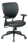 Black Vinyl over Air Grid® Back Managers Chair with Black Vinyl Seat