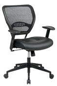 Professional Air Grid® Back Managers Chair with Black Eco Leather Seat