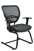 Professional Air Grid® Back Visitors Chair with Leather Seat