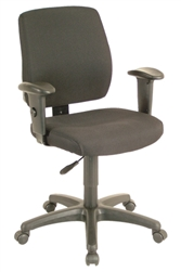 Deluxe Task Chair with Ratchet Back Height Adjustment with 2 Way Adjustable Arms