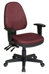 Dual Function Ergonomic Chair with Adjustable Back Height and 2 Way Adjustable Arms