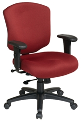 Distinctive Mid Back Executive Chair with 3 Position Locking 2-to-1 Synchro Tilt Control