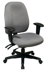 Dual Function Ergonomic Chair with Seat Slider and Ratchet Back