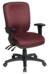 Dual Function Ergonomic Chair with Ratchet Back and 2 Way Adjustable Arms