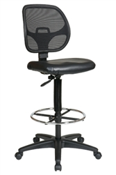 Deluxe Screen Back Drafting Chair with Adjustable Footring
