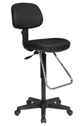 Economical Drafting Chair with Chrome Teardrop Footrest