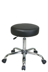 Backless Stool with Vinyl Seat and Chrome Finish