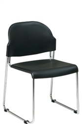 4 Pack Stack Chair with Plastic Seat and Back