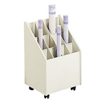 Mobile Roll File, 12 Compartment