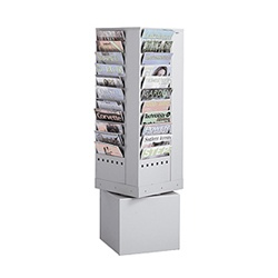 44-Pocket Steel Rotary Magazine Rack