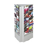 66 or 33-Pocket Steel Rotary Brochure Rack
