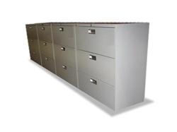 Used Hon 3 Drawer Laterlal File Cabinets On Sale At Office