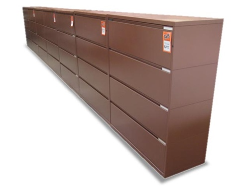 Quality Used Meridian 4 Drawer Lateral File Cabinets 06
