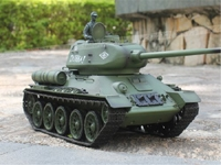 Heng Long 2.4Ghz 1/16 Scale Radio Remote Control Russian T-34/85 RC Air Soft RC Battle Tank Smoke & Sound
