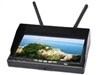 "5.8Ghz 4 bands 12 channels HD 800*480p 7"" Monitor Dual Receiver Built-in battery And Auto Search Channel"