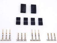 JR / Spektrum Servo Connector Plug Set (Male and Female - 2 Pairs)