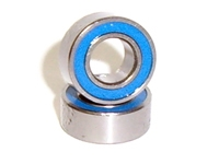 Dual Rubber Sealed Ball Bearings 10x15mm Flanged 1 Piece