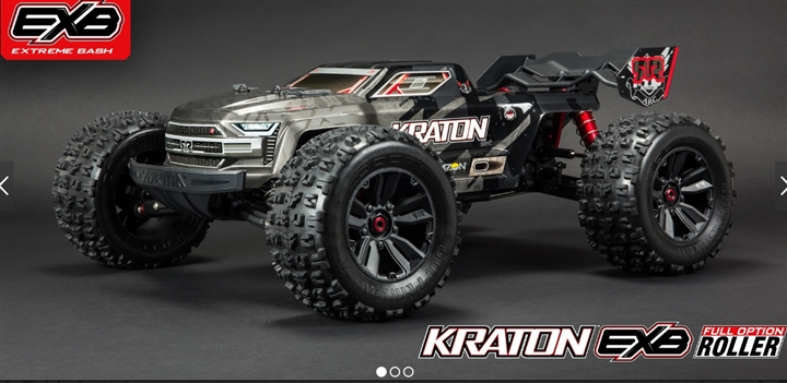 KRATON 1/8 4WD EXtreme Bash Roller Speed Black ARA106053