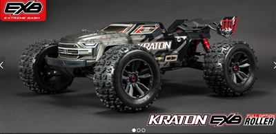 Arrma 1/8 KRATON 4WD EXtreme Bash Roller Speed Monster Truck, Black, ARA106053