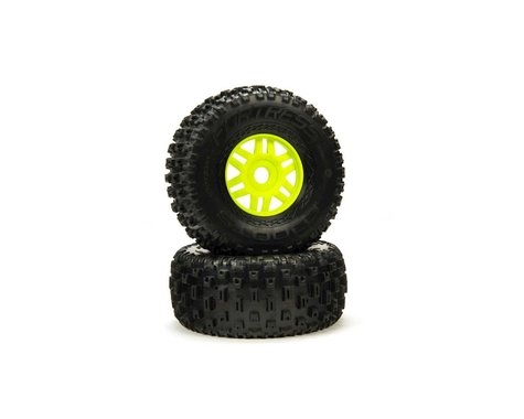 dBoots 'Fortress' Tyre Set Glued Green (Pair) ARA550068
