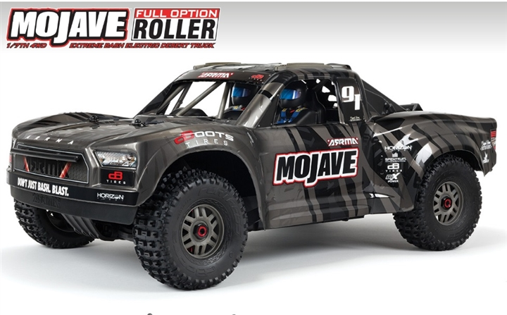 MOJAVE 1/7th 4wd EXtreme Bash Roller Black ARA7204