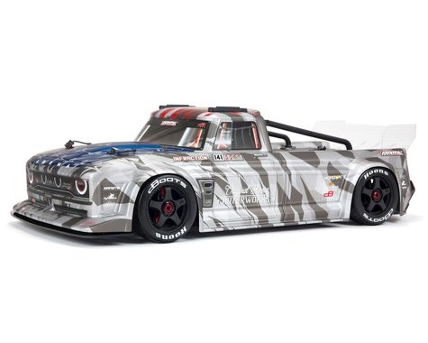 Arrma Infraction V2 6S BLX Brushless 1/7 RTR Electric 4WD Street Bash Truck (Silver) w/DX3 2.4GHz Radio, Smart ESC & AVC,  ARA7615V2T2