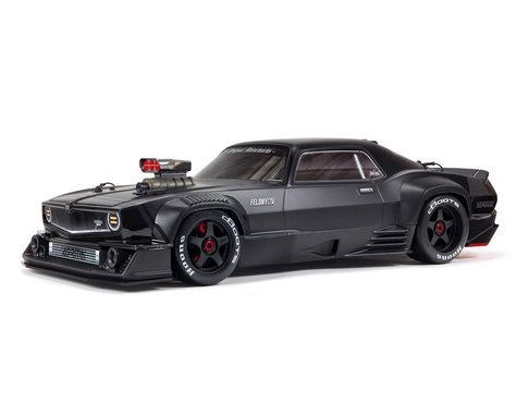 Arrma Felony 6S BLX Brushless 1/7 RTR Electric 4WD Street Bash Muscle Car (Black) w/DX3 2.4GHz Radio, Smart ESC & AVC,  ARA7617V2T1