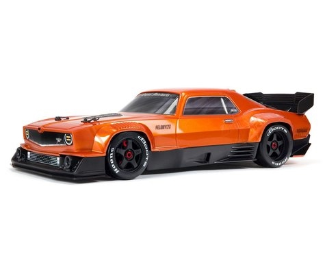 Arrma Felony 6S BLX Brushless 1/7 RTR Electric 4WD Street Bash Muscle Car (Orange) w/DX3 2.4GHz Radio, Smart ESC & AVC, ARA7617V2T2