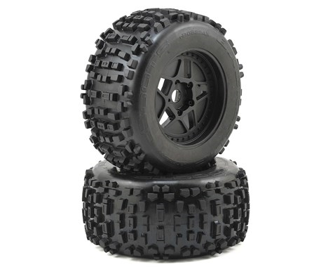 Arrma Dboots 'Back-Flip Mt 6S' Pre-Mounted Tires (Black) (2) AR510092