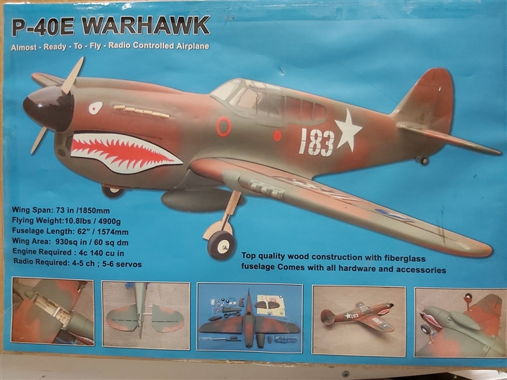 "P40 Warhawk 73 "" 1850mm ARF ""Tiger Shark"" CMP Model"