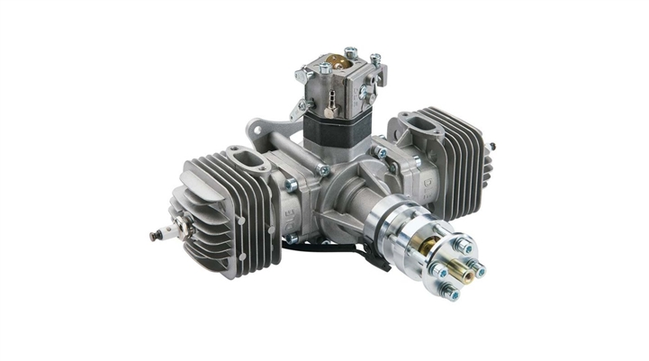 DLE-60 60cc Twin Gas Engine with Electronic Ignition and Mufflers (DLEG0060)