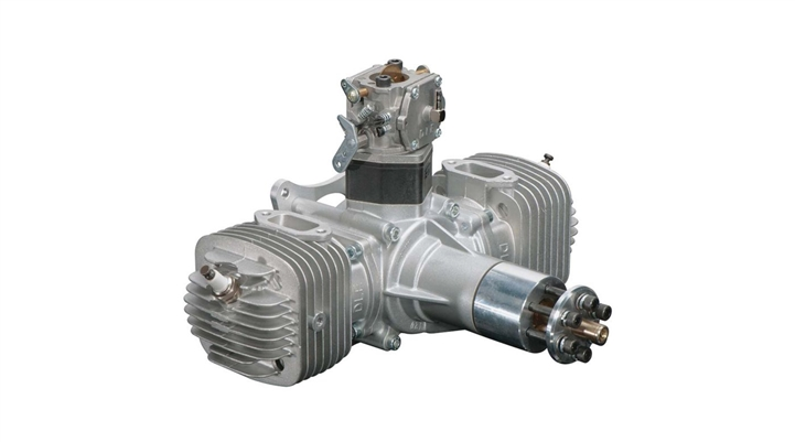 DLE-120 120cc Twin Gas Engine with Electronic Ignition and Mufflers (DLEG0120)