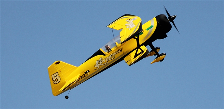 Dynam Pitts Model 12 Yellow 1070mm Wingspan -PNP
