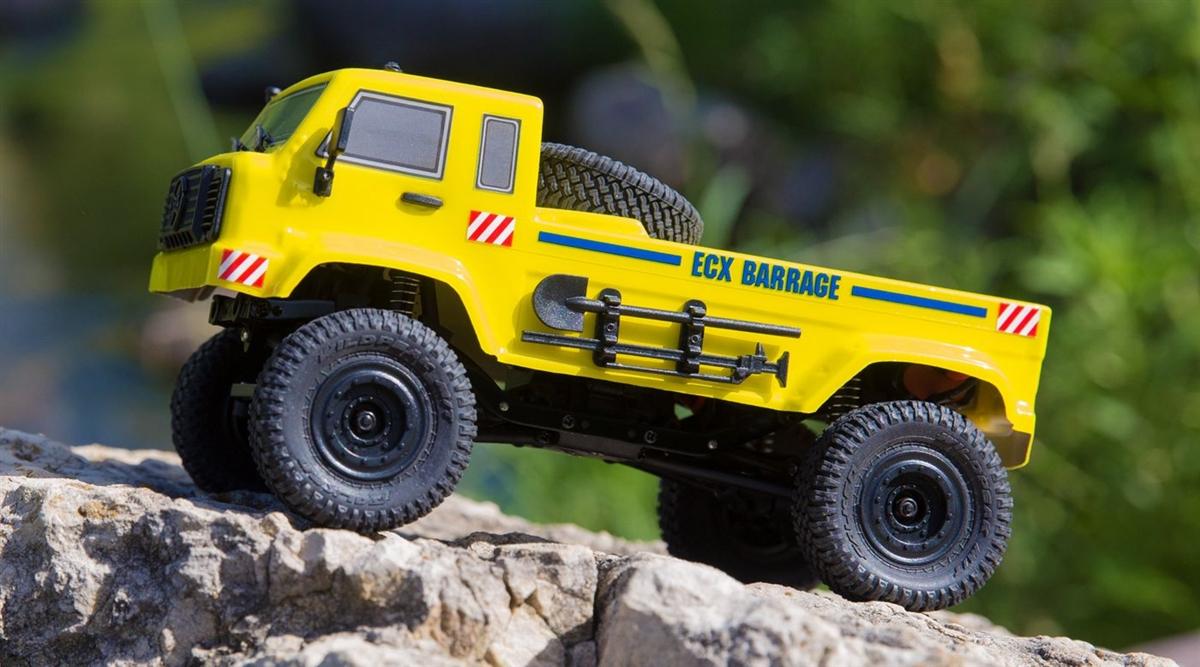 gelb ECX Barrage UV 4WD Scale Crawler 1//24 2,4GHz 100/% RTR ECX00019T2