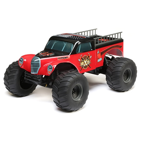Body w/ Ladders, Red/Black: 1:10 2WD Axe MT, ECX230042