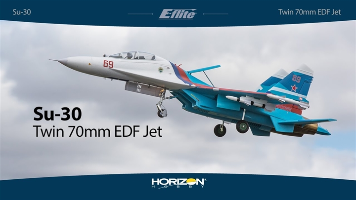 SU-30 Twin 70mm EDF BNF Basic with AS3X & SAFE Select (EFL01050)
