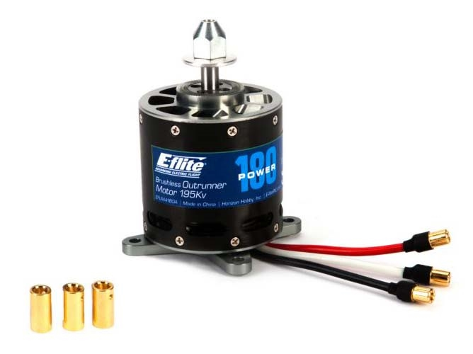 E-flite Power 180 Brushless Outrunner Motor, 195Kv (EFLM4180A)